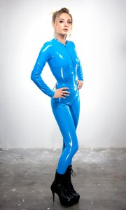 Turquoise PVC Corset belt Artifice Clothing