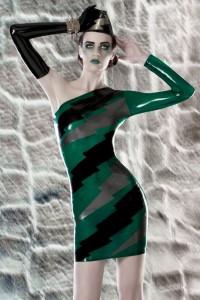 Transparent Lightening bolts dress