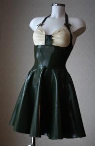 50's inspired flared dress