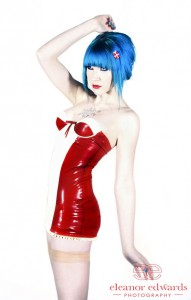 Latex Mini Dress With Built-In Underwired Cups