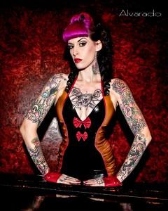 Latex Voodoo Tiki Mini Halter Dress