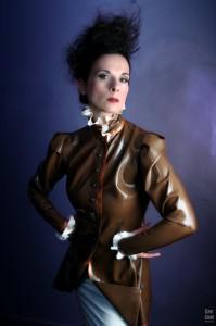 Latex Victorian Riding Jacket