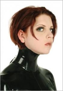 Latex neck corsett, short