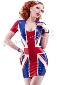 Union Jack Latex Dress