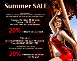 Inner Sanctum 2012 Summer Sale