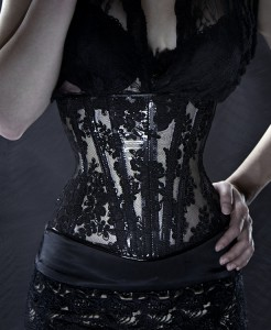 Clear Vinyl and Lace Underbust Corset (version 2) 2