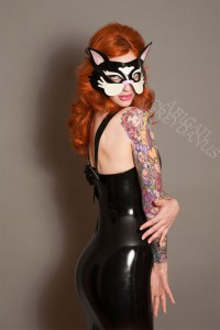 Latex Kitty Cat masquerade mask