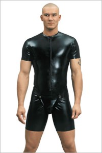 Latex cycle suit with codpiece, 0,60 mm latex
