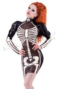 Palermo Skeleton Latex Dress