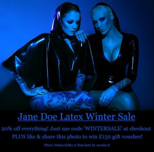 Jane Doe Latex Winter Sale
