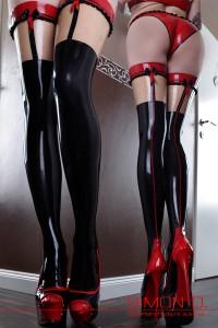 STR-Sweet Temptation Stockings with frills optical suspender belt