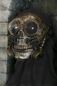Steampunk Froggle Full Face Skull Gas mask 2