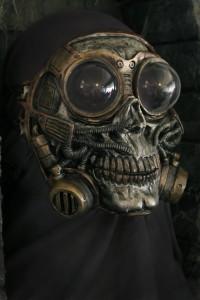 Steampunk Froggle Full Face Skull Gas mask