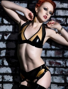 Latex Rubber Art Deco Knickers
