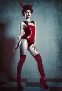 Latex Rubber Bow Bodysuit