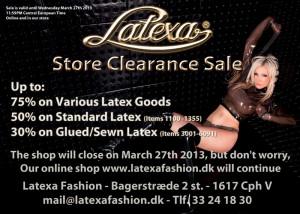 Latex Fashion Closing Sale