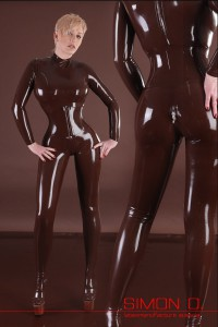 CSD-PRINCESS- Skintight catsuit in DARBROWN