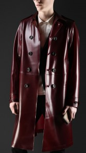 Mens Ruber Trench Coat