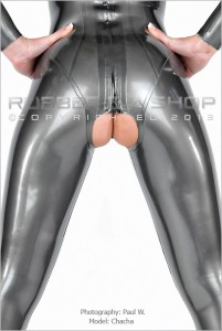 Crotchless Rubber Catsuit 1