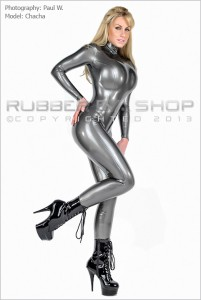 Crotchless Rubber Catsuit 2