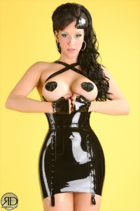 Little black latex dress 2