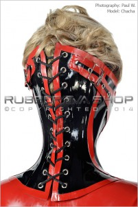 Steel Boned Rubber Neck Corset With Detachable Mouth 2