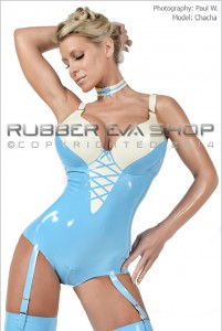 Underwired Latex Body With Suspenders