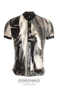 Marble Latex Mens Shirt