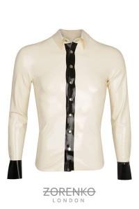 Mens Tuxedo Latex Shirt