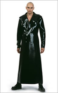 latex military coat