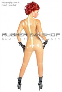 Underwired Half Cup Bra Latex Catsuit 2