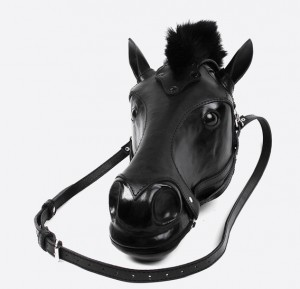 Black Horse Head Leather Bag