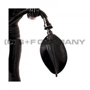 リブレスバッグにコネクターと逃がし弁がついている例