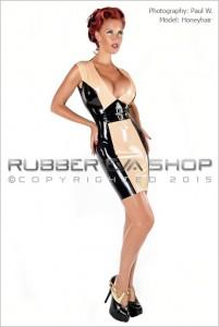 Plunge Neck Rubber Buckle Dress front 2