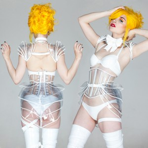 Clear PVC Corset, Hip Armour, Shrug