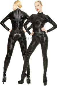 Catsuit-Stretchlack-Black-Cube