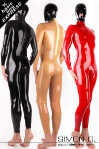 Latex Catsuit for men with express delivery