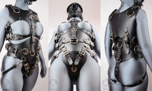 Leather Bondage Harness for Pony Play