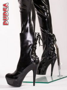 Latex Lace High Heel 2