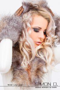 Fur Trim Latex Catsuit 3