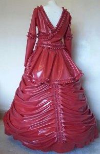 Latex Victorian Wedding Dress back