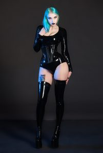 PVC Jumpsuit with Sleeves 2