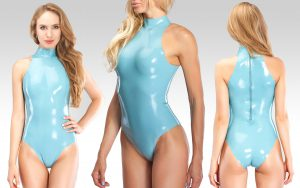 latex swinsuit