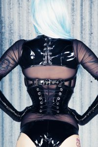 Lace up PVC shrug 3
