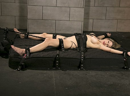 Agatha Bound with Medical Restraints
