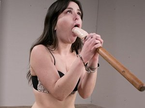 Self Bondage Dildo Blowjob