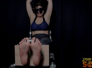 Moody Barefoot Nadia White Practices Math With Each Cane Stroke