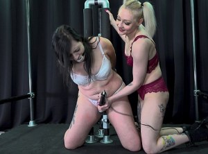 Arielle Loves Watching Shelby Struggle in Bondage Orgasms