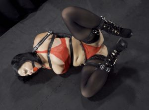 In Armbinder and Frog Ties, Nadia White Hopelessly Writhes