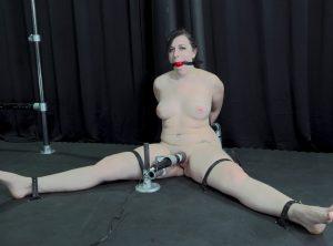 Nude, Panting, Tightly Bound Shelby Paris Submits to Bondage Orgasm